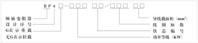 二,频敏变阻器型号定义     三,起动性能 bp4系列频敏变阻器起动